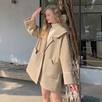 MG小象毛呢大衣女2019流行呢外套冬季韩版宽松显瘦小个子直筒上衣【年货节狂欢 到手价:238元】