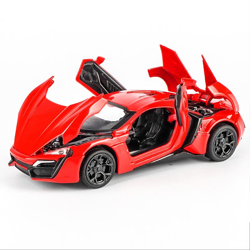 KIV合金玩具跑车模型声光回力车仿真车模儿童玩具汽车礼物 合金车身 声光功能 回力功能