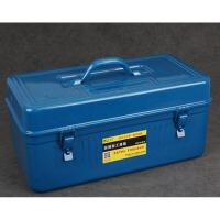 户外商用家用时尚冷轧钢板铁皮五金工具箱铁皮箱家用车载工具箱多功能 20寸 双层