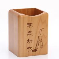 实木韩国文具可爱笔筒创意时尚多功能办公用品木质笔桶桌面收纳盒