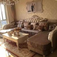 欧式布艺沙发组合U型双贵妃大小户型客厅家具简欧转角实木布沙发