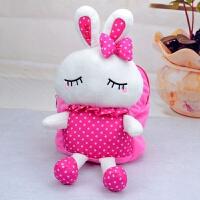 宝宝书包1-3岁幼儿园女孩儿童卡通小兔子毛绒韩版可爱男孩