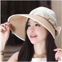 大沿女可拆卸帽顶夏季遮阳帽休闲太阳帽户外韩版防晒防紫外线帽
