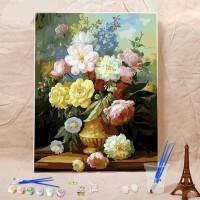 数字油画水彩填充减压画画手工填色画手绘装饰油彩画家居日用家装软饰装饰字画