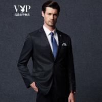 花花公子贵宾 西服套装 男 时尚商务男士正装 单排扣两粒扣 结婚典礼西装套装