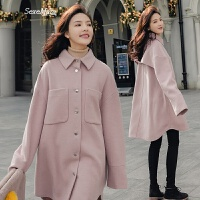 呢子大衣女中长款韩版学生2018春季新款女装韩国小个子毛呢外套潮
