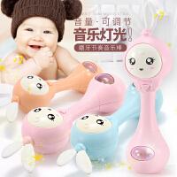 儿童玩具宝宝手摇铃音乐棒新生儿0-1岁手抓软胶男孩女孩早教