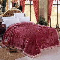 商场同款大红色婚庆加厚拉舍尔毛毯10斤色立体绣花双层结婚毯子双人盖毯 200cmx230cm约9斤