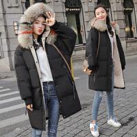 反季羽绒服女中长款2018新款时尚白鸭绒冬韩版加厚过膝显瘦潮