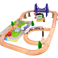 男女孩儿童宝宝3-6-9岁益智托马斯木制火车轨道拼装玩具