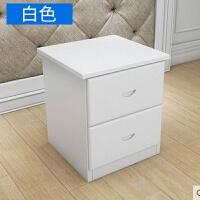 床头柜 实木床头柜 两抽斗柜 实木家具 柜子 组装