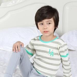 彩桥  春秋季儿童内衣套装纯棉家居服睡衣两件套打底衫