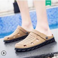 新款洞洞鞋男凉拖鞋男潮流韩版室外沙滩鞋男个性男士凉鞋网红时尚防滑户外新品
