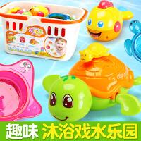 宝宝儿童洗澡玩具戏水游泳婴儿玩具小乌龟玩沙沐浴喷水海豚叠叠乐