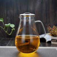 【当当自营】北斗正明耐热玻璃冷水壶 花茶壶 不锈钢过滤网盖 大容量凉水壶水滴壶