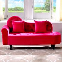 简约贵妃椅欧式布艺沙发小户型组合双人沙发单人店铺卧室床尾凳子