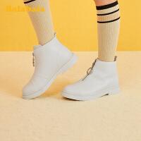 巴拉巴拉女童马丁靴儿童靴子短靴2019冬季新款小童鞋时尚中大童潮