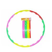 博宇户外运动儿童学校体育竞技户外游戏玩具彩色成人瘦身按摩七节可拆卸塑料呼啦圈