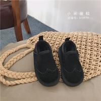 韩版儿童复古低帮真皮雪地靴男女童加厚保暖鞋棉鞋 冬季新款童鞋