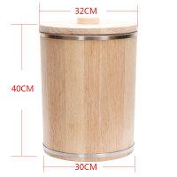 装米桶家用防潮防虫实木米桶家用橡木米桶木质米缸防蛀圆形储米箱装米木桶10KG15KG20