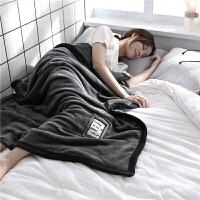 君别双层加厚法兰绒毛毯珊瑚绒毯子冬季儿童小被子午睡毯盖腿毯 100cm×150cm