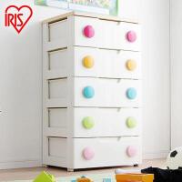 爱丽思IRIS环保塑料彩色扣抽屉式收纳柜储物整理柜宝宝衣柜彩扣HG555