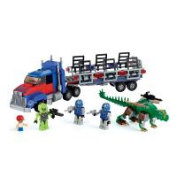 变形金刚 酷垒系列 擎天柱猎人含卡车积木套装 拼插玩具