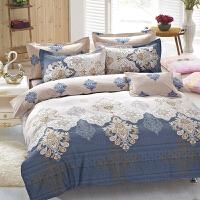 当当优品家纺 纯棉斜纹印花床品 双人床单四件套 爱罗伊