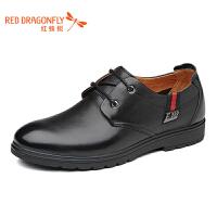 红蜻蜓 2017春秋新款商务正装男鞋舒适系带功能皮鞋正品低帮单鞋