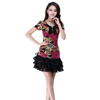 广场舞服装套装 春夏季跳舞服装女 拉丁舞服装女练功服