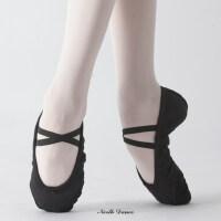 女士芭蕾舞蹈鞋 新款跳舞鞋帆布瑜伽鞋 软底练功鞋猫爪鞋耐磨成人舞蹈鞋