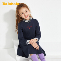 【3件5折价:75】巴拉巴拉女童连衣裙儿童公主裙春装童装大童针织甜美裙子