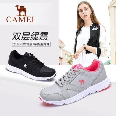 骆驼女鞋 2018春季运动鞋女 轻便跑步鞋女 防滑休闲鞋 单鞋女