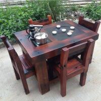 泡茶茶几客厅仿古客厅阳台茶几实木新中式功夫茶台 整装