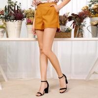 【1件7折,2件5折】OSA欧莎2017夏季新款女装舒适百搭时尚休闲短裤女S117B52032