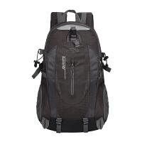 户外登山包40L大容量轻便旅行折叠背包男士旅游双肩包防水女书包 黑色 T-8607