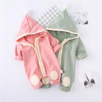 春季宝宝连体衣服6-12个月婴儿新生儿外出服幼儿爬行服1-2岁