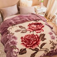 君别商场被子冬天单人双层拉舍尔毯子冬季用加厚珊瑚法兰绒毛毯床保暖学生宿舍