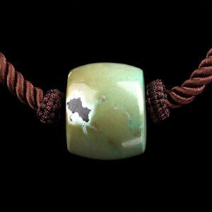原矿高瓷绿松石DIY桶珠吊坠 直径12mm