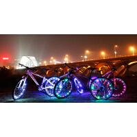 新款自行车风火轮灯车轮灯多彩辐条灯夜骑灯 辐条炫彩灯防水