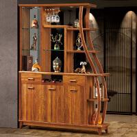 实木客厅进门玄关隔断酒柜间厅柜门厅双面鞋柜屏风装饰柜现代中式 组装