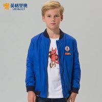 童装男童加厚夹克外套儿童秋冬装2017新款中大童运动防风保暖上衣