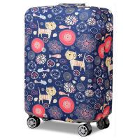 行李箱保护套 拉杆箱套旅行箱套 弹力加厚皮箱套20/24/28/30寸 小猫XL码 30-32寸