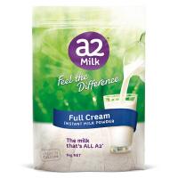 澳洲直邮 A2全脂袋装成人学生老人奶粉 1kg