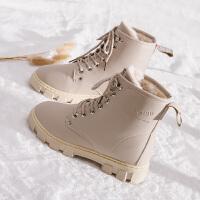 冬季女鞋子加绒2018新款马丁靴女冬天雪地短靴子学生百搭保暖棉鞋