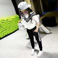 童装女童卫衣套装2017新款韩版春秋装休闲儿童运动服两件套