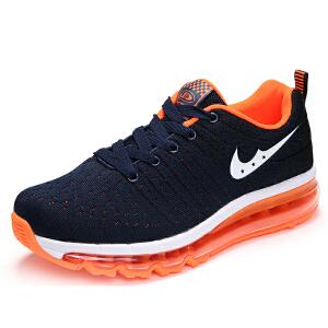 男鞋秋季运动鞋男子网面学生鞋透气跑步鞋气垫健身跑步鞋