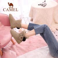 camel骆驼女鞋 靴子女新款 加厚棉鞋短筒女靴子舒适保暖短靴雪地靴