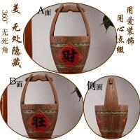 中式酒柜装饰品摆件客厅玄关家庭博古架摆件创意个性陶瓷小工艺品 咖啡色 单件财旺雕刻