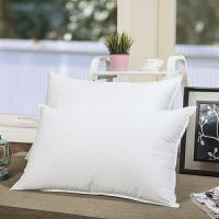君别棉蓬松酒店枕芯白色3D超细纤维可水洗柔软舒适全面羽丝绒单人枕